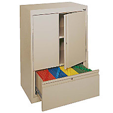 Sandusky Counter Height Steel Storage Cabinet