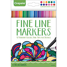 Crayola Fine Line Markers For Adults