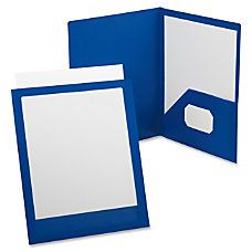 Oxford ViewFolio Twin Pocket Folder Blue