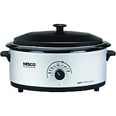 Nesco 6 Qt Silver Roaster Glass