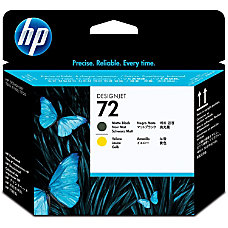 HP 72 BlackYellow Printhead C9384A