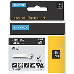 Dymo White on Black Color Coded