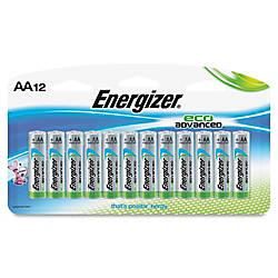 Energizer EcoAdvanced AA Batteries AA Alkaline