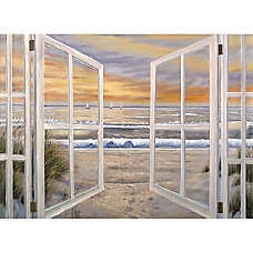 Trademark Global Elongated Window Gallery Wrapped