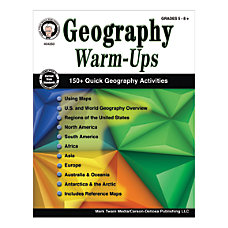 Mark Twain Media Geography Warm Ups