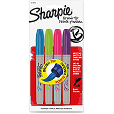 Sharpie Brush Tip Permanent Marker Assorted