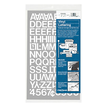 chartpak pickett vinyl letters and numbers 34 white