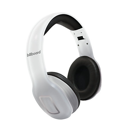 billboard bluetooth over the ear headphones silver by office depot officemax. Black Bedroom Furniture Sets. Home Design Ideas