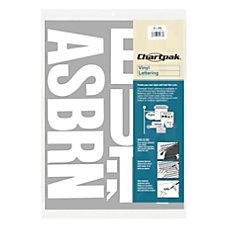 Chartpak Pickett Vinyl Letters 4 White