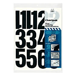 Chartpak Pickett Vinyl Numbers 4 Black By Office Depot