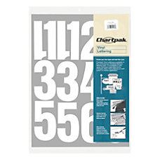 Chartpak Pickett Vinyl Numbers 4 White