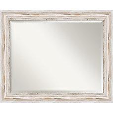 Amanti Art Alexandria Whitewash Wall Mirror