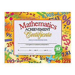 Hayes Publishing Certificates Mathematics Achievement 8