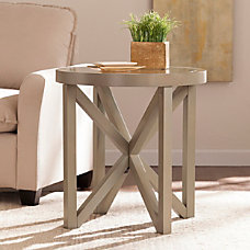 Southern Enterprises Brentwick End Table Round