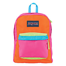 JanSport SuperBreak Backpack Fluorescent PinkOrange