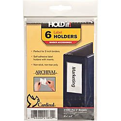 Cardinal HOLDit Label Holders 2 316