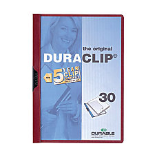 Durable DURACLIP Report Cover Letter 8