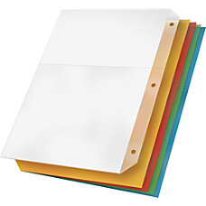 Cardinal Poly Ring Binder Pockets Multicolor