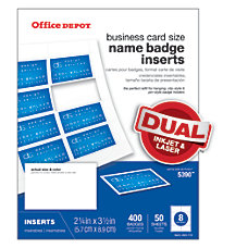 Office Depot Brand Badge Inserts 2