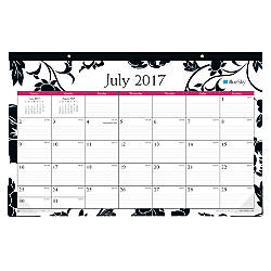 blue sky academic desk pad calendar 17 x 11 50percent recycled