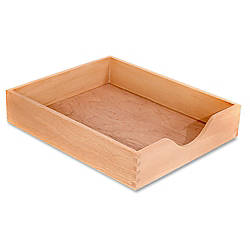 Carver Wood Oak Finish Desk Trays