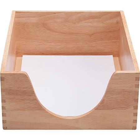 Carver Double Deep Wood Desk Tray Letter Oak By Office