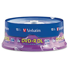Verbatim DVDR Double Layer Disc Spindle