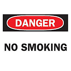 10X14 NO SMOKING SIGN FIBERGLASS