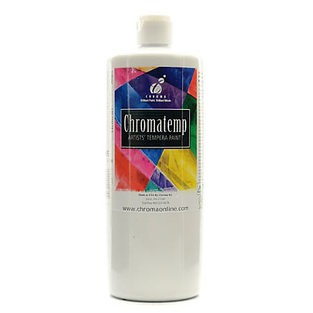 Chroma chromatemp artists tempera paint 32 oz white by for Chroma acrylic mural paint review