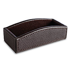 Realspace Executive Leatherette Business Card Holder