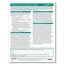 ComplyRight Political Activities Employee Policy Sheets