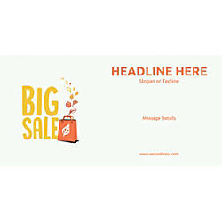 Custom Horizontal Banner Big Sale Bag