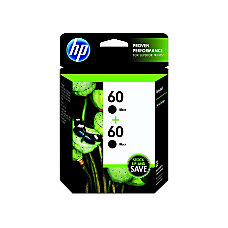 HP 60 Black Original Ink Cartridges