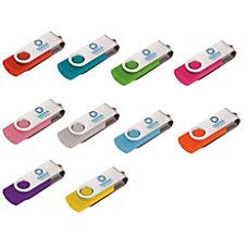 Rotate Silver Clip USB Flash Drive