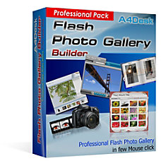 A4Desk Flash Gallery Builder Professional Pack