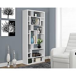 Monarch Specialties 14 Shelf Bookcase White