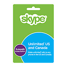 Skype Prepaid eCard 3 Month Unlimited