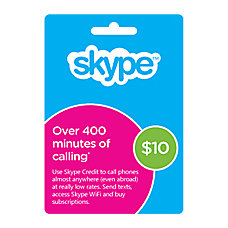Skype Prepaid eCard 10USD Download Version