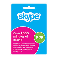 Skype Prepaid eCard 25USD Download Version