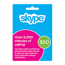 Skype Prepaid eCard 50USD Download Version