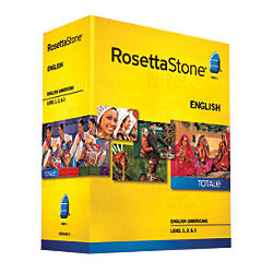 Rosetta Stone V4 English (US) Level 1 - 5 Set, For PC/Mac, Traditional Disc