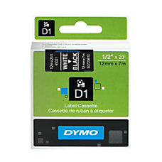 DYMO D1 45021 White On Black