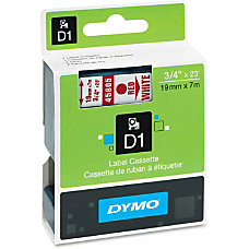 DYMO D1 45805 Red On White