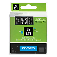 DYMO D1 45811 White On Black