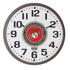 SKILCRAFT Slimline Wall Clock With Logo