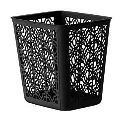 United Solutions Trellis Rectangular Plastic Wastebasket
