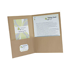 Earthwise By Oxford Twin Pocket Folders