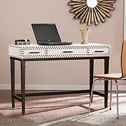 Southern Enterprises Capri Faux Leather Desk