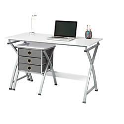 Brenton Studio X Cross Desk And File Set White By Office