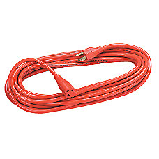 Fellowes IndoorOutdoor Extension Cord 25 Orange